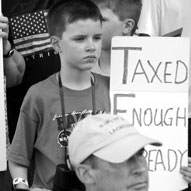 Houston Tea Party - Downtown, Discovery Green - July 3, 2009... Click to enlarge